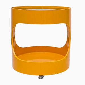 Yellow Luna Pop Art Bar Cart from Opal Möbel, 1970s