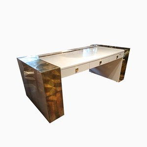 Brutalist French Desk by Jean Claude Mahey, 1970s