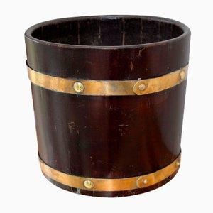 19th Century Brass-Bound Wooden Bucket
