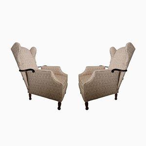 Vintage Italian Reclining Armchairs, 1970s, Set of 2