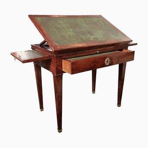 Antiker französischer Arbeitstisch aus Mahagoni