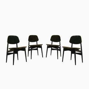 Esszimmerstühle aus Holz, 1960er, 4er Set