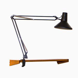 Lampada da tavolo L1 vintage nera di Jac Jacobsen per Luxo, anni '60