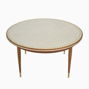 Tavolino da caffè Mid-Century rotondo di Berthold Müller, anni '60