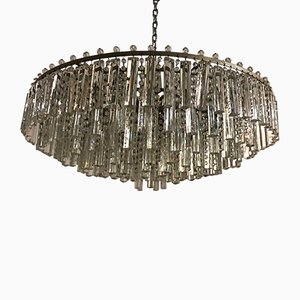 Large Crystal Prism Chandelier, 1960s