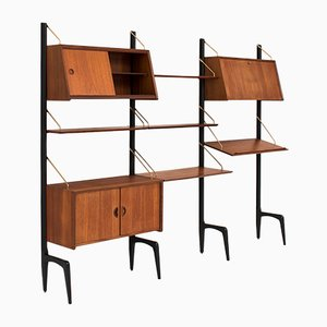 Dutch Triple Wall Unit by Louis van Teeffelen for WéBé, 1950s