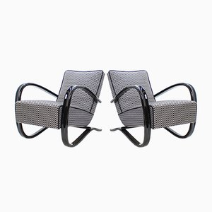 Art Deco H-269 Armchairs by Jindrich Halabala, 1930s, Set of 2