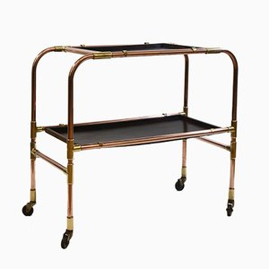 Vintage Copper & Brass Drinks Trolley, 1950s