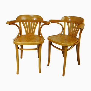 German Beech Chairs from Mobilair, 1970s, Set of 2