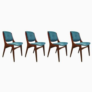 Vintage Corduroy Chairs from Mahjongg Holland, 1960s, Set of 4