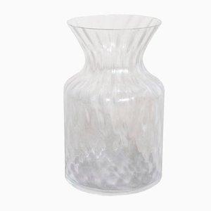 Rautenförmige Vintage Muranoglasvase von Barovier