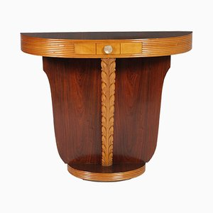 Art Deco Carved Maple and Walnut Console from Lissone, 1930s