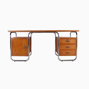 Mid-Century Tubular Steel Office Desk from Manubelge