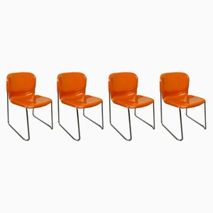 Swing Stacking Chairs by Gerd Lange for Drabert, 1982, Set of 4