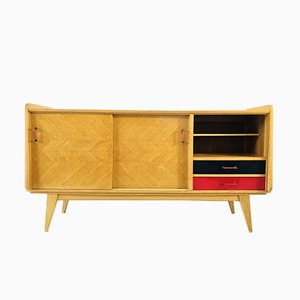 Vintage Oak Sideboard with Compass Legs, 1950s