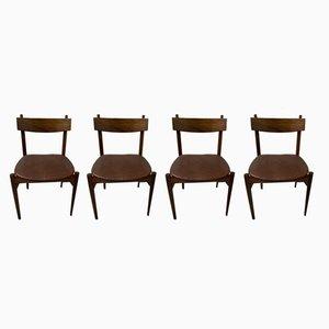 Britische Vintage Esszimmerstühle von Wrighton, 4er Set