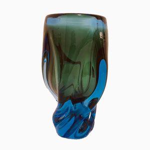 Jarrón vintage de vidrio de Josef Hospodka para Chribska