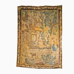 Alfombra francesa de lana, siglo XVIII