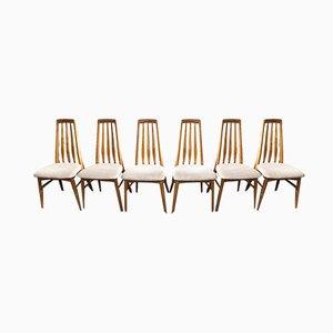 Danish Eva Chairs by Niels Koefoed for Koefoeds Hornslet, 1960s, Set of 6