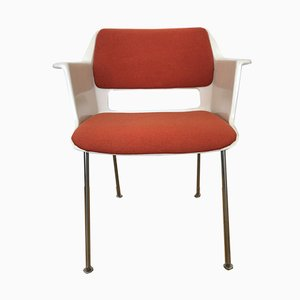 Vintage Orange 2225 Armchairs by André Cordemeyer for Gispen, 1969, Set of 4