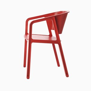 Chaise Red Beams par EAJY