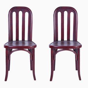 Antike Stühle von Josef Hoffmann für Jacob & Josef Kohn, 2er Set
