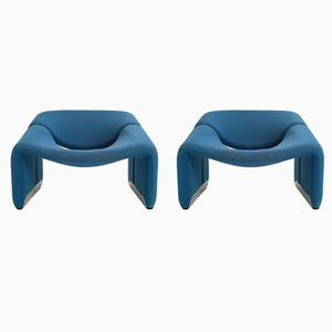 Vintage F598 Groovy Armchairs by Pierre Paulin for Artifort, 1990s, Set of 2