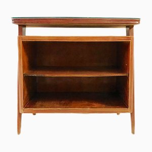 Vintage Wooden Console with Shelves, 1960s