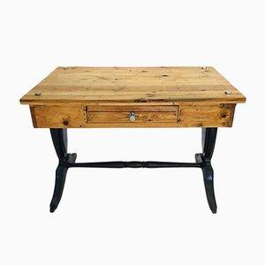 Scrivania vintage in legno, anni '80