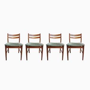 Dänische Vintage Esszimmerstühle aus Teak, 4er Set