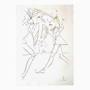 Incisione The Pass of Gadalore di Salvador Dalí, 1975