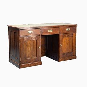 Vintage Wooden & Leather Desk