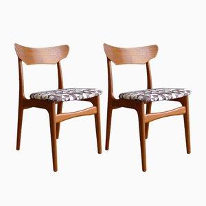 Dänische Mid-Century Esszimmerstühle aus Teak von Schiønning & Elgaard für Randers Møbelfabrik, 2er Set