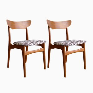 Mid-Century Danish Teak Dining Chairs from Schiønning & Elgaard, Set of 2