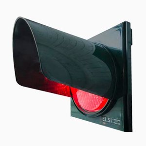 Vintage Red Traffic Light from ET.SI, 1970s