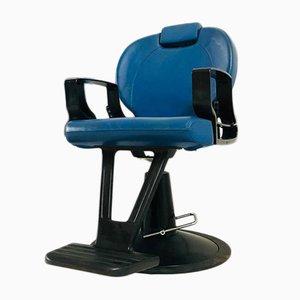 Sedia da barbiere vintage blu, anni '80