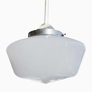 Lampada vintage in vetro opalino, anni '50