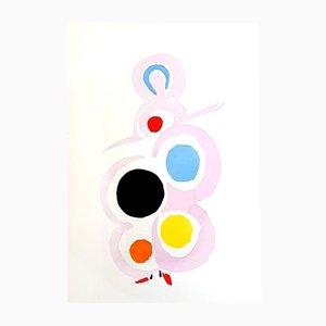 Pochoir Peinture Vivante par Sonia Delaunay, 1969