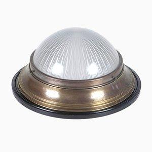 Lampada da soffitto Art Nouveau in ottone, anni '10