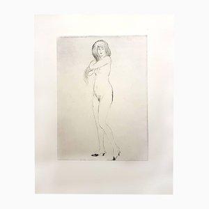 Nonchalance Etching by Jean-Gabriel Domergue, 1924