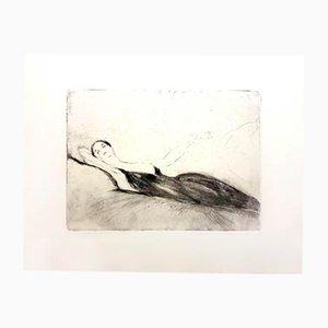 Lying Woman Radierung von Jean-Gabriel Domergue, 1924