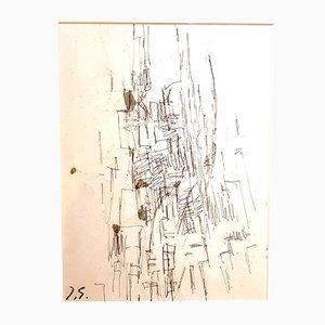 Zeichnung von Jacques Germain, 1970er