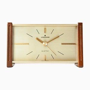 Orologio da tavolo vintage modernista di Junghans, anni '70