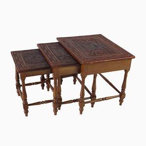 Tavolini ad incastro Mid-Century di Angel I. Pazmino per Muebles de Estilo, anni '60