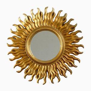Specchio vintage a forma di sole, Francia, anni '70