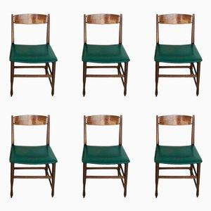 Skandinavische Vintage Beistellstühle, 1960er, 6er Set