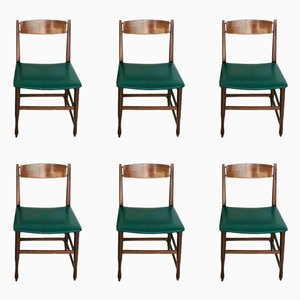 Vintage Scandinavian Side Chairs, 1960s, Set of 6