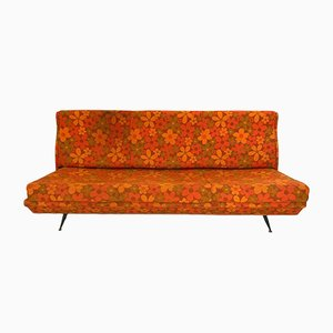 Vintage Italian Orange Sofa, 1960s
