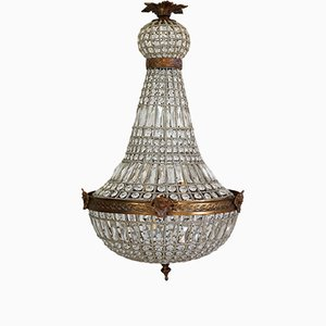 Large Vintage Chandelier with Angel Heads, 1980s
