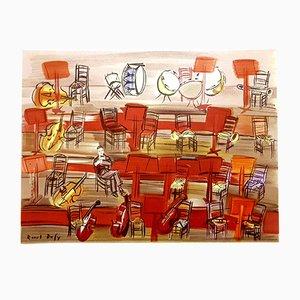 Litografía Concert de Raoul Dufy, 1965